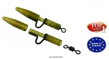Extra Carp Extra Heavy Lead Clips with Camo Tubing