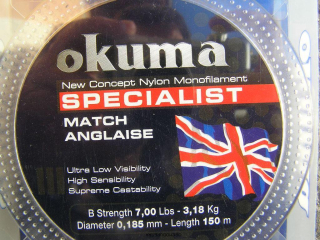 Okuma Specialist White Fish 150 m 0,185 mm