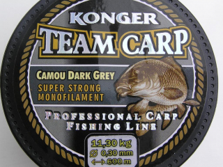 Konger Team Carp Camou Dark Grey 0,30 mm-600 m