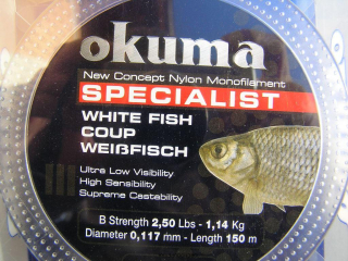 Okuma Specialist White Fish150 m 0,117 mm